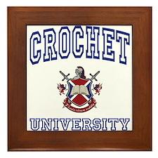 CROCHET University Framed Tile