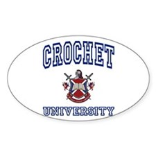CROCHET University Oval Decal