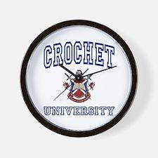 CROCHET University Wall Clock