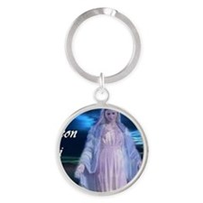 Mary Round Keychain