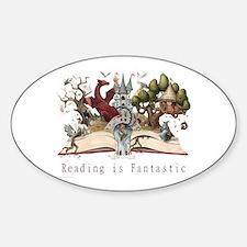 Reading is Fantastic II Sticker (Oval)