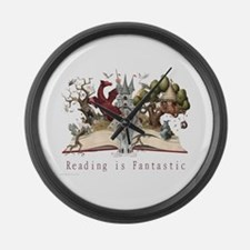 Reading is Fantastic II Large Wall Clock