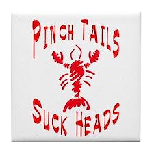 Pinch Tails Crawfish Tile Coaster