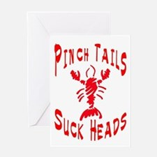 Pinch Tails Crawfish Greeting Cards