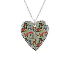 Cute Forest Woodland Animals Pattern Necklace