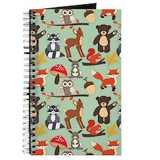 Cute Forest Woodland Animals Pattern Journal