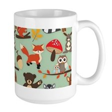 Cute Forest Woodland Animals Pattern Mugs
