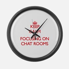 Keep Calm by focusing on Chat Roo Large Wall Clock