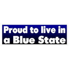RI Blue State Bumper Bumper Sticker