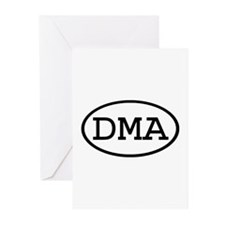DMA Oval Greeting Cards (Pk of 10)