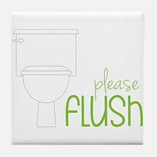 Toilet Etiquette Tile Coaster