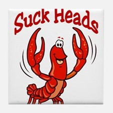 Crawfish Suck Heads Tile Coaster