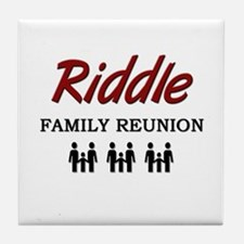 Riddle Family Reunion Tile Coaster