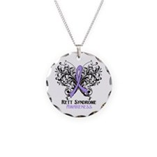 Rett Syndrome Awareness Necklace Circle Charm
