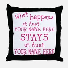 Aunts House Throw Pillow