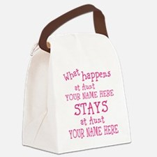 Aunts House Canvas Lunch Bag