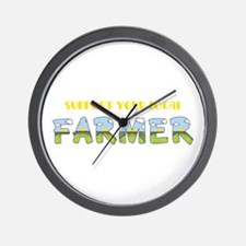 Local Farmer Wall Clock