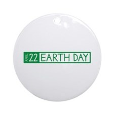 Earth Day Date Ornament (Round)