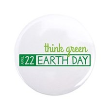 """Think Green 3.5"""" Button (100 pack)"""