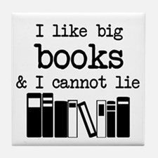I like Big Books Tile Coaster