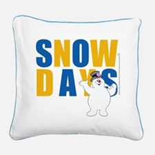 Snow Days Square Canvas Pillow