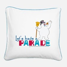 Let's Have a Parade Square Canvas Pillow