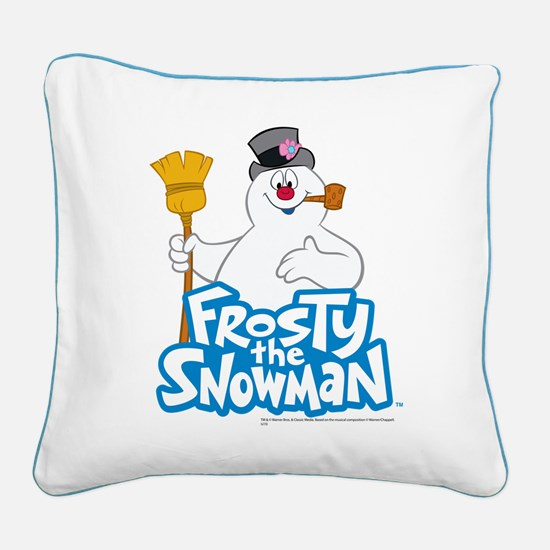 Frosty the Snowman Square Canvas Pillow