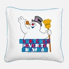 Everyone's Favorite Snowman Square Canvas Pillow