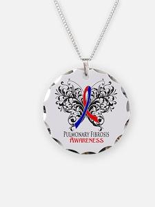 Pulmonary Fibrosis Awarenes Necklace Circle Charm