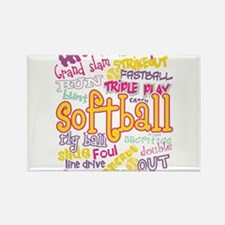 Softball Magnets
