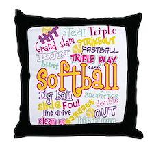 Softball Throw Pillow