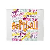 Softball Fleece Blankets