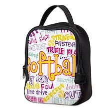 Softball Neoprene Lunch Bag