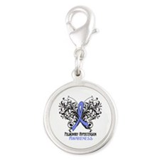 Pulmonary Hypertension Awaren Silver Round Charm