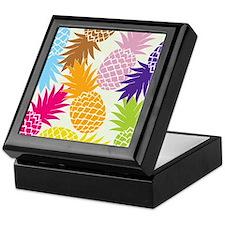 Colorful pineapples patterns Keepsake Box