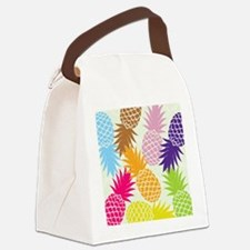 Colorful pineapples patterns Canvas Lunch Bag