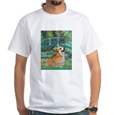 Monet's Lily Pond Bridge & Corgi Shirt