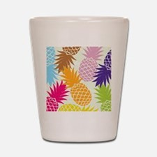 Colorful pineapples patterns Shot Glass