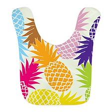 Colorful pineapples patterns Bib