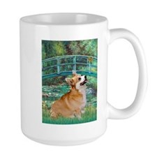 Monet's Lily Pond Bridge & Welsh Corgi Mug