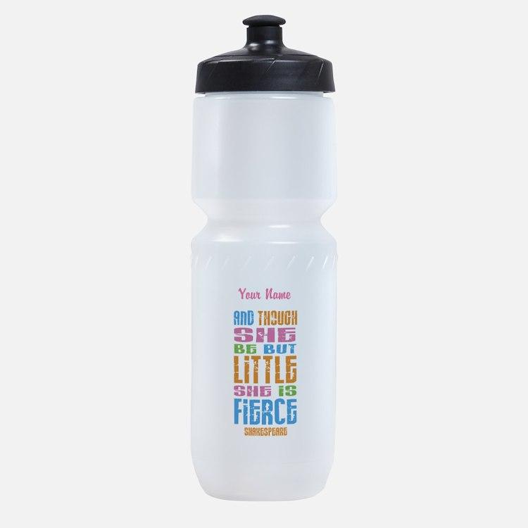 She is Fierce - Personalized Sports Bottle