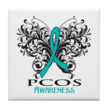 PCOS Awareness Tile Coaster