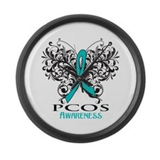 PCOS Awareness Large Wall Clock