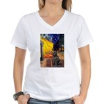 Cafe & Newfoundland Women's V-Neck T-Shirt