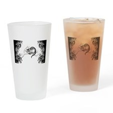 Cheshire Cat Swirls Drinking Glass