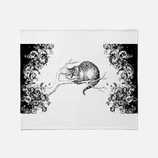 Cheshire Cat Swirls Throw Blanket