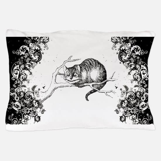 Cheshire Cat Swirls Pillow Case