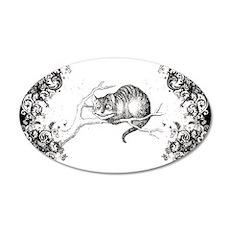 Cheshire Cat Swirls 35x21 Oval Wall Decal