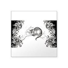 """Cheshire Cat Swirls Square Sticker 3"""" x 3"""""""