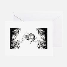 Cheshire Cat Swirls Greeting Card